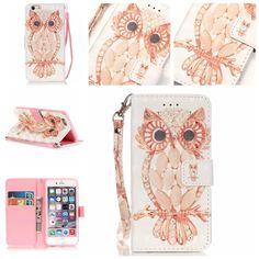iPhone 7 Plus Case,[Cute Owl] 3D Colorful Painted Bling Rhinestone Magnetic Snap Premium Soft PU Leather Flip Wallet Case with Double Hand Straps Stand Feature Cover for Apple iPhone 7 Plus 5.5 Inch. Fashion design fit for your phone perfectly;. Stand design: it's convenient for you to enjoy video, movies etc;. Material: Made of PU leather;. card slots and inner pocket for carrying ID,cash ,credit cards;. New case for Apple iPhone 7 Plus 5.5 Inch.