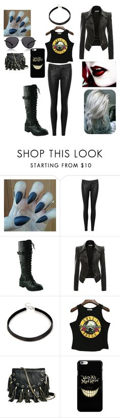 """Untitled #2098"" by bloodrose6 ❤ liked on Polyvore featuring rag & bone/JEAN and GUESS by Marciano"