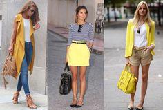 o que a cor amarelo em looks femininos representa