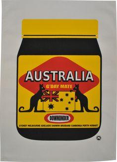 Aussiemite tea towel
