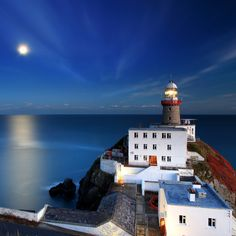 The shades of blue are beautiful. Baily Lighthouse, Dublin.