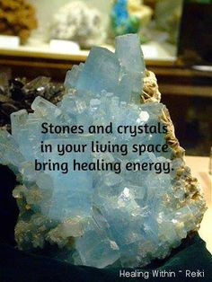 Stones and crystals in your living space bring healing energy. Minerals And Gemstones, Rocks And Minerals, Holistic Healing, Natural Healing, Natural Salt, Healing Stones, Crystal Healing, Crystal Magic, Rare Crystal