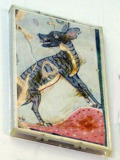 Preserved Tile. Wild Dog in the Desert, Tomb of Amenemopet reign of Thutmose IV ? Date: ca. 1400–1390 B.C.