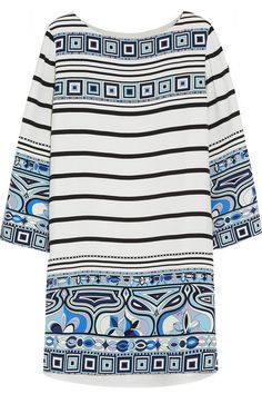 Emilio Pucci  Printed silk crepe de chine mini dress $2,594.62