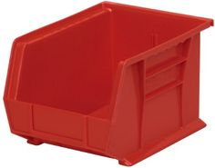 AkroMils 30239 Plastic Storage Stacking Hanging Akro Bin 11Inch by 8Inch by 7Inch Red Case of 6 ** See this great product.