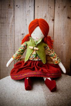 Heirloom Cloth Doll by RosieRace on Etsy, $150.00