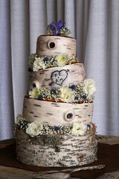 41 Yummy Woodland Wedding Cakes | HappyWedd.com