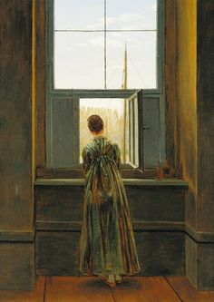 Woman at the Window  Caspar David Friedrich c. 1822