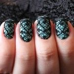 Lace nails anyone? They are a sexy and cute way to do ur nails and its simple! All you have to do is paint ur nails any color put a clear coat on top, cut a piece a lace off and stick it on and make sure to trim around the edges so it looks neat :) Lace Nail Design, Lace Nail Art, Lace Nails, Nail Art Designs, Teal Nails, Nails Turquoise, Lace Art, Fishnet Nails, Design Art