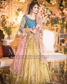 Inbox us to order ✉📬 Contact 📞 📞☎ (WhatsApp ) Can be made in any Color Size Pakistani Mehndi Dress, Bridal Mehndi Dresses, Pakistani Fashion Party Wear, Asian Wedding Dress, Pakistani Formal Dresses, Pakistani Wedding Outfits, Indian Bridal Lehenga, Indian Bridal Outfits, Bridal Dress Design