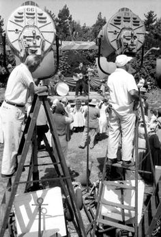 Cameraman working when Elvis was filming the movie sequence of the song  Let me in august 1956.