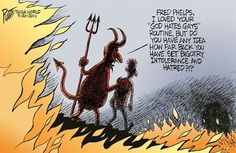 "Satan chats w/Fred Phelps in Hell, says he ""set back ... bigotry"""