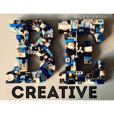 Custom letter E and B mosaic wall letter toy by MosaicTreasureBox