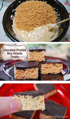 This is a perfect sweet treat to make to give as a gift for Christmas. It's an delicious recipe for peanut butter rice krispie treats topped with chocolate. So good!
