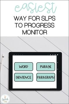 Read more about versatile tools that will make progress monitoring in your speech therapy sessions easy and print-free. These no print speech therapy resources will save time and printing. Articulation progress monitoring and phonology progress monitoring are included. Click to read more.