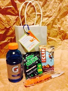 Rock Climbing Favors: Gatorade, Rock Candy, Clif Bar, Pop Rocks