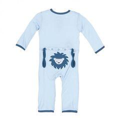 Kickee Pants Applique Coverall - Pond Sunshine Lion