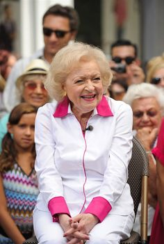 Betty White- her smile is so infectious