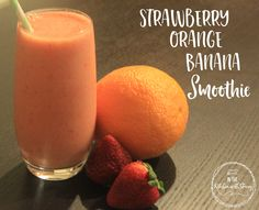 This strawberry orange banana smoothie recipe is balanced with sweetness from the strawberries and tang from the citrus. Strawberries, oranges, bananas.
