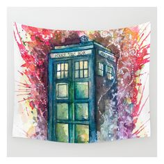 Doctor Who Tardis Wall Tapestry ($39) ❤ liked on Polyvore featuring home, home decor, wall art, wall tapestries, outdoor wall art, cartoon illustration, outside wall art и outside home decor