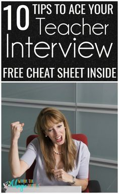 An article with 10 tips on how to ace your teacher interview. For what outfit to wear, to a list of possible questions, and ideas to enhance your possibilities. FREE Interview cheat sheet PDF Source by topnotchteacher - Teacher Interview Outfit, Teacher Interview Questions, Teacher Interviews, Interview Outfits, Interview Tips For Teachers, Interview Help, Job Interviews, Jobs For Teachers, First Year Teachers