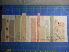 "bookshelf quilt patterns | Sew a 1/4"" seam down the length, and press seams open. Then trim your ..."