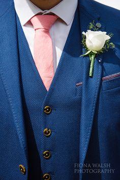 #groomsuit #tedbaker #bluesuit #pink #blue #waistcoat #groom