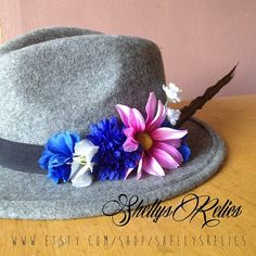 384c5c54f8 ... 084a9 72188 Large Summer festival flower pheasant feather by  ShellysRelics Feather Hat
