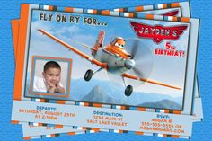 Disney Planes Birthday Invitations- Planes Birthday Invitations