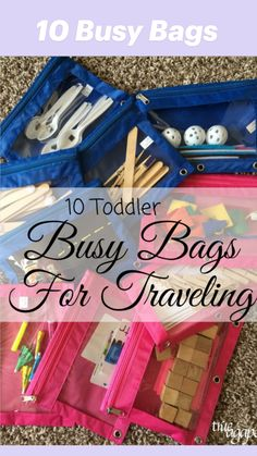 Kids Travel Activities, Road Trip Activities, Toddler Learning Activities, Infant Activities, Summer Activities, Indoor Activities, Family Activities, Kids Learning, Toddler Busy Bags