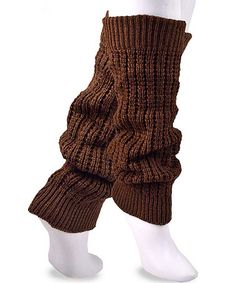 Look what I found on #zulily! Brown Knit Leg Warmers by Soxnet #zulilyfinds