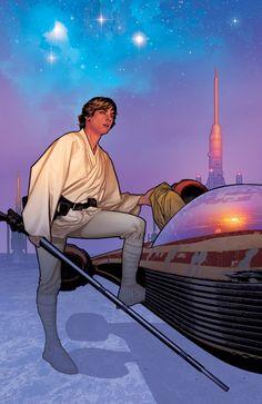 Star Wars: Luke Skywalker by Adam Hughes