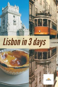 Lisbon in 3 days - My Lisbon Itinerary You plan to travel to Lisbon and don't know what things to do in Lisbon during your stay? Well, Lisbon is one of the mist vibrant, interesting and yet affordable destinations in Europe. In this Lisbon Itinerary I wil Portugal Travel Guide, Europe Travel Guide, Travel Destinations, Travel Guides, Budget Travel, Visit Portugal, Spain And Portugal, Lisbon Portugal, Backpacking Europe