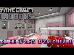 Kids Bedroom for Girls - Minecraft Indoors Interior Design - YouTube