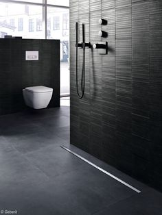 View image of Geberit CleanLine offers streamlined drainage design for wetrooms Bathroom Shower Panels, Shower Drain, Walk In Shower, Toilet Design, Family Bathroom, Wet Rooms, Bathroom Interior Design, Interior Architecture, House Design