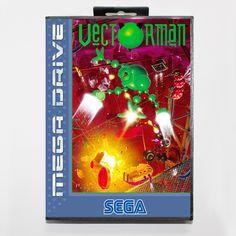 Vectorman  16 bit SEGA MD Game Card With Retail Box For Sega Mega Drive For Genesis #Affiliate