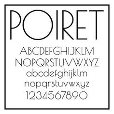 Sans Serif Fonts: Point to Poirot