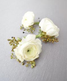 White Ranunculus & E