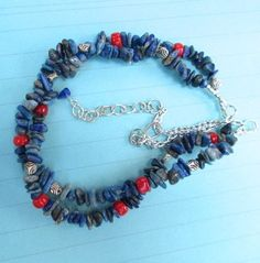 $24.00.  DENIM LAPIS NECKLACE by MimiJewels on Etsy.  http://www.etsy.com/listing/153665591/denim-lapis-necklace?ref=shop_home_active
