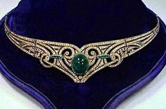Antique Tiara (paste gemstones, silver).