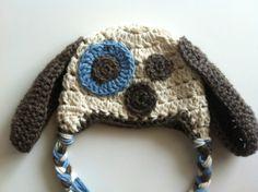 Little Boy Crochet Puppy Hat Photo Prop by PinkLemonKnits on Etsy