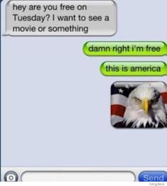 I need that bald eagle picture on my phone for future texts.