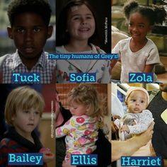 Grey's Children, crianças da série