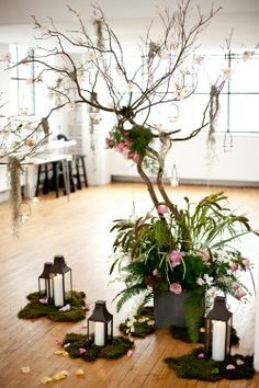 www.elizabethannedesigns.com I'm loving the lanterns and moss is pretty simple. haha !