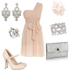 """pink and silver"" by rinergirl on Polyvore"