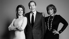 Norah O'Donnel, Charlie Rose and Gayle King of CBS This Morning in the April 2014 issue of CBS Watch! Magazine.Photography by Christopher Ross.