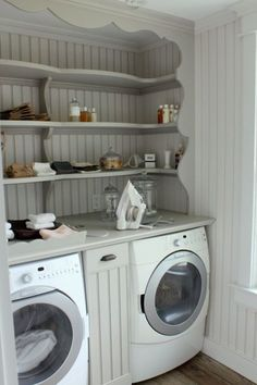 Great idea for a small laundry area!