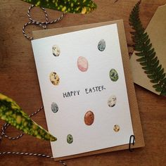 Watercolour Eggs Illustrated Easter Card