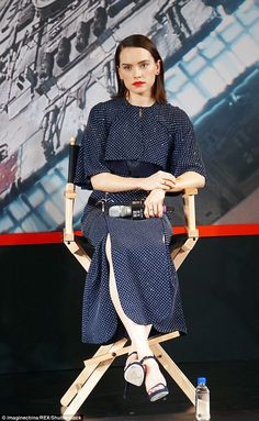 Fashionable force: Adding to her long list of fashionable ensembles, Daisy Ridley, 23, made yet another satorial style hit at the Star Wars: The Force Awakens' photocall in Shanghai on Monday