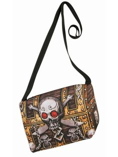 Halloween Pirate Sublimation Handbag, Size: One size, Brown Scary Halloween Costumes, Halloween Night, Pirate Treasure Chest, Trick Or Treat Bags, Pirate Woman, One Bag, Handbag Accessories, Saddle Bags, Pirates